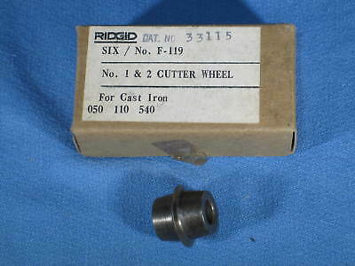 Box Of 6 Ridgid 33115 F-119 Grey Cast Iron Cutter Wheel 1a 2a Cutters New