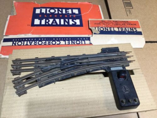 LIONEL 711  LEFT SWITCHES FOR 072 TUBULAR TRACK WORK