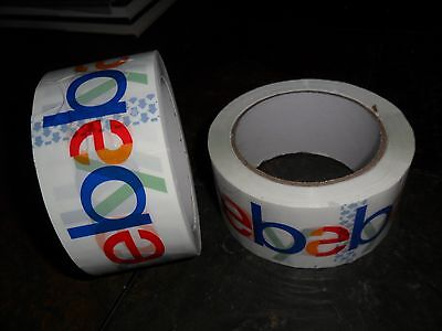 6 Roll Lot Ebay Brand Packing Tape Packaging Shipping 75 Yards 2 Mil Thick