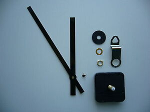 High Torque Clock Movement Extra Long Spindle 170mm Black