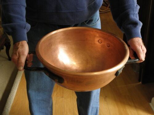 Vintage thick copper candy,  apple butter cauldron or kettle