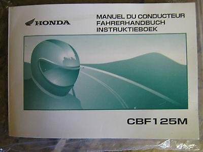 Honda.. CBF125 CBF 125 Manuel Du Conducteur Fahrerhandbuch Instruktieboek