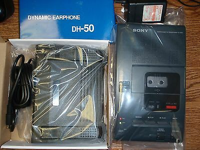 Sony M2000 microcassette transcriber with heavy duty foot pedal, AC adapter