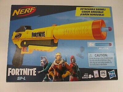 NERF FORTNITE SP-L ELITE TOY BLASTER PISTOL + 6 DARTS  AP 3164
