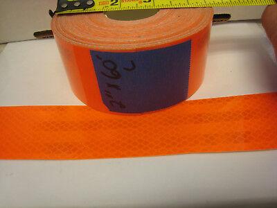 Neon Orange Reflective  Conspicuity Tape 2 X 60 Feet