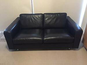 Back leather 2 seater sofa Woolloomooloo Inner Sydney Preview