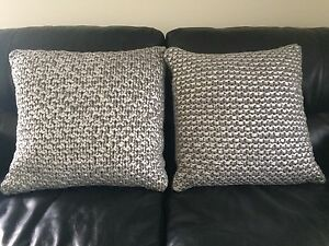 Grey - Silver knit cushions x2 Pelican Waters Caloundra Area Preview