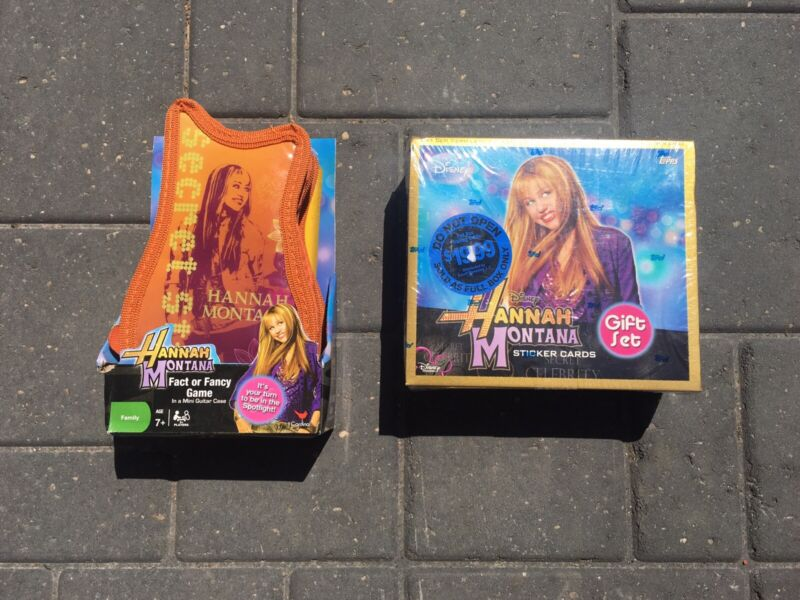 Hanna montana Sticker Cards And Fact Or Fancy Game