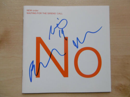 "New Order Autogramme signed CD-Cover ""Waiting for the Sirens`Call"""