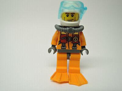 Lego Figur City Küstenwache Taucher oranger Anzug Atemschutz cty412  Set 60013