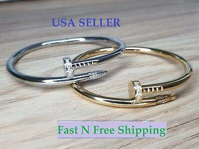 Nail Style Love Bracelet Bangle Cuff Screw Juste un Clou Nail High Quality Perfe