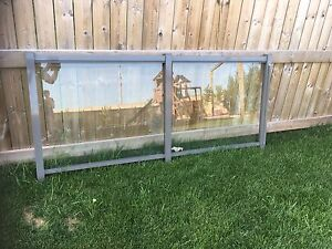 Glass and Aluminum Deck Rail