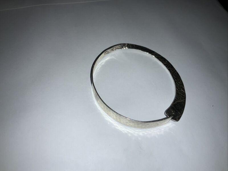 Silpada Sterling Silver Hammered  Bangle Bracelet Retired B1684