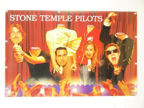 "vintage original STONE TEMPLE PILOTS 1993 rock poster ~ Funky ~ 23x24"" ~ STP EUC"