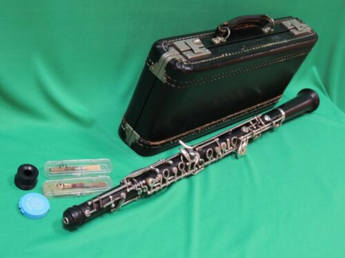 Pre-Loree Cabart Wood Intermediate Oboe💎 SPECIAL Matching # S156 case  2 reeds
