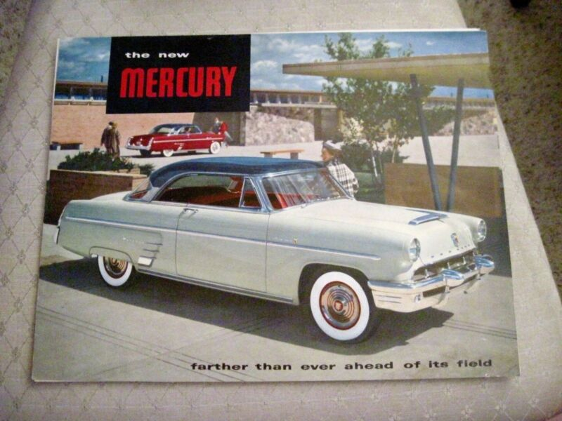 """Vintage 1953 """"Mercury"""" Brochure w/ Lots of Pictures of Cars *"""