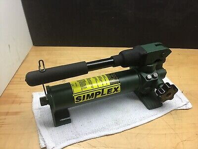 Simplex P20 Hydraulic Pump Single Acting Cylinder 20 Q In Oil Res 2850 Psi