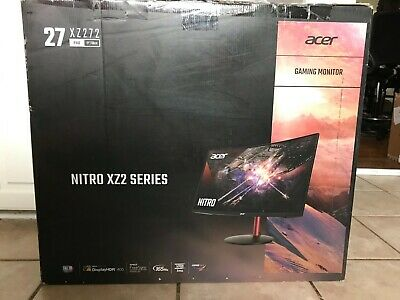 """Acer Nitro XZ272 sbmiiphx 27"""" Curved FHD Gaming Monitor 165Hz 1ms NEW OPEN BOX"""