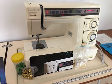 Janome Sewing Machine in Horn Sewing Cabinet