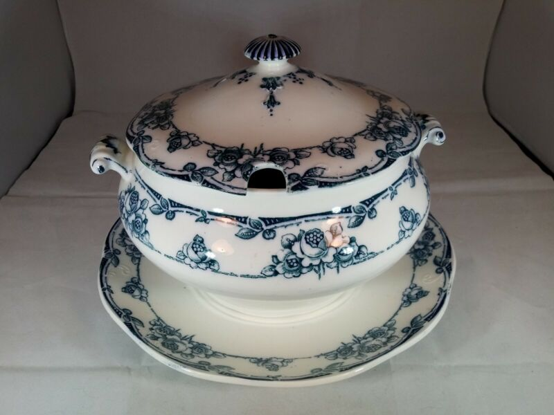 Very Old Bishop & Stoner Large Soup Tureen Sybil England