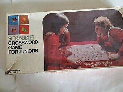 Vintage 1975 Selchow & Righter SCRABBLE FOR JUNIORS, in original box, complete