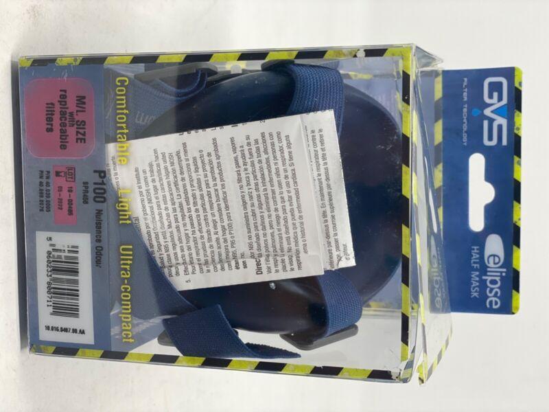 Open box GVS SPR456 Elipse 100 NIOSH Respirator Size M/L