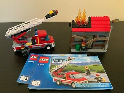 LEGO City Fire Emergency 60003 - 100% Complete with Minifigures and Manuals
