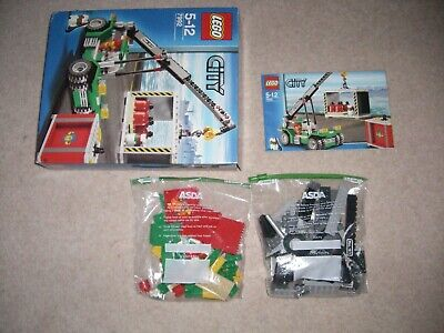 Used Lego City Container Stacker Complete, 7992, Inc Box & Manual