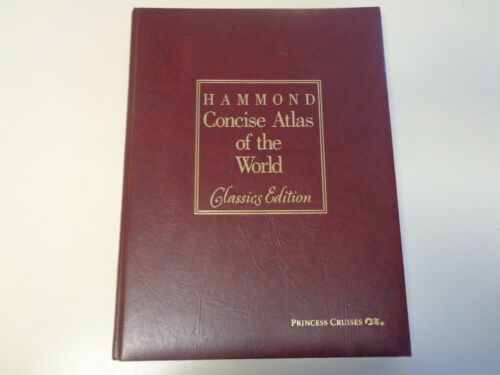 Princess Cruise Line – Hammond Concise Atlas of the World Leather Classics