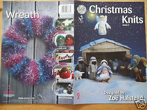 CHRISTMAS KNITS NATIVITY GARLANDS TEA COSY KNITTING PATTERN   KING COLE BOOK 3