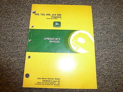 John Deere 655 755 855 955 Utility Tractor Owner Operator Manual Book Omm92614