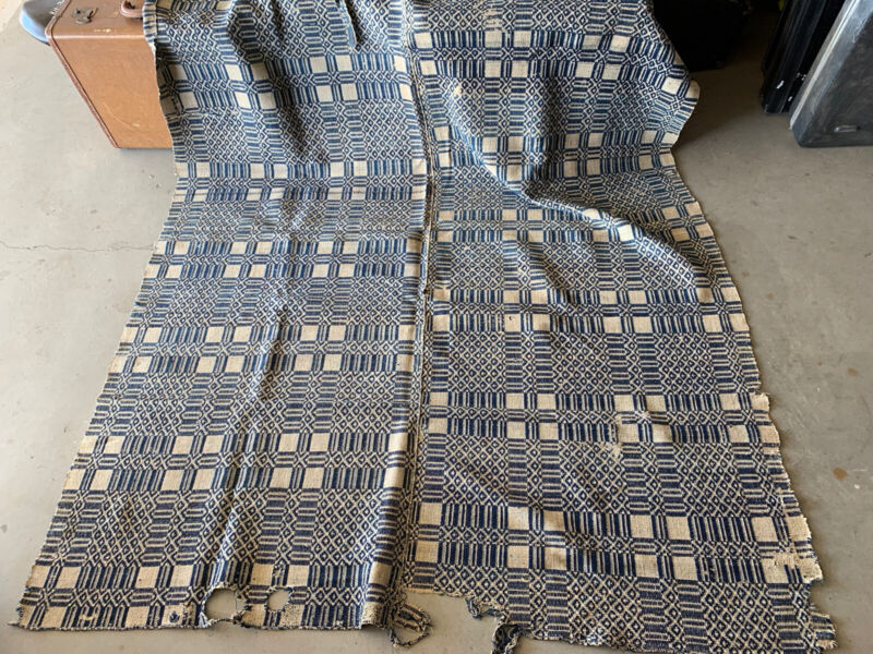 Antique 1795 Tennessee Hand Made Coverlet Blanket