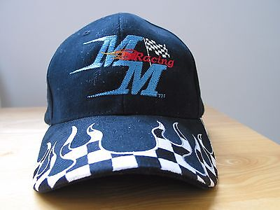 GO KART RACING HAT BALLPARK STYLE - MM RACING EMBROIDERED LOGO - ONE SIZE FIT
