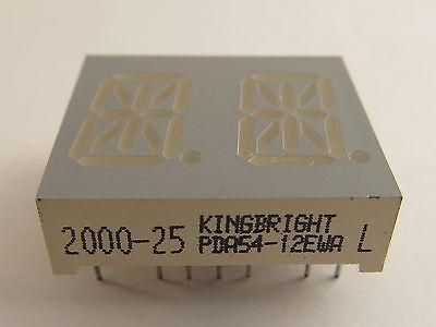 "13,8mm (0,54"") 14-Segment dual Display Kingbright PDA54-12EWA, rot, gem.Anode"