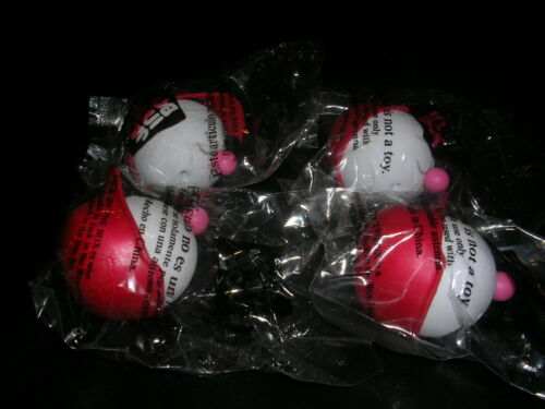 JACK IN THE BOX 4 ANGEL ANTENNA BALLS 2002 NEW IN THE ORIGINAL SEALED PACKAGING
