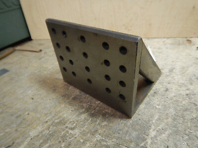 Smaller Angle Plate With 516-18 Holes Machinist Tooling Jig Fixture