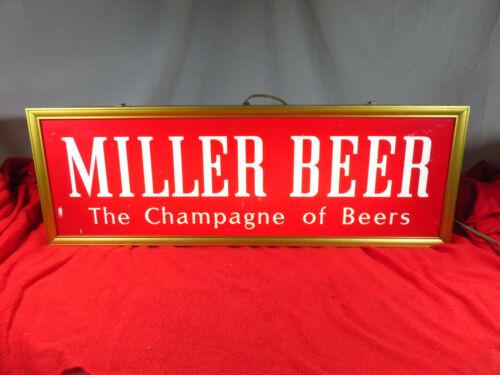 Vtg MILLER BEER THE CHAMPAGNE OF BEERS 2-sided light up sign