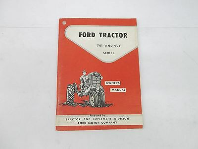 Ford 701 901 Series 741 941 951 961 Tractors Owners Manual