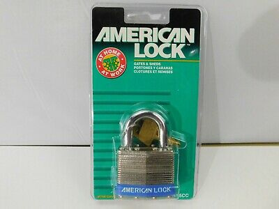 Lot Of 3 American Lock Padlock--series L45cc For Gates And Sheds Brand New Look