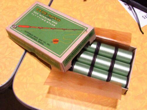 1 ONE Gudebrod Size A Jade Lite Green Nylon 50 yards Thread Spool