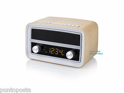 Radio Retrò AudioSonic Bluetooth sveglia USB ricarica RD-1535 SPEDIZIONI VELOCI