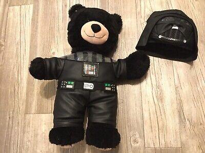 Build A Bear BAB Plush Teddy Black Bear & Star Wars Darth Vader Costume - Black Bear Costume Kids