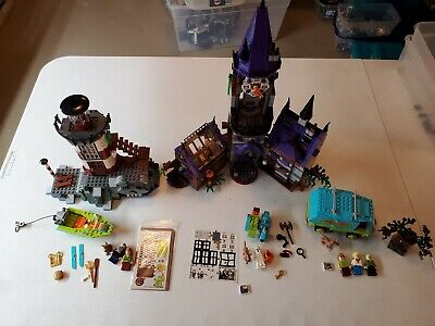 Lego Scooby Doo Lot (75902, 75903, 75904) mystery machine, mansion, lighthouse