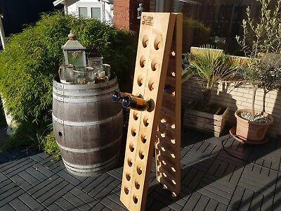 ORIGINAL Oak Champagne Riddling Rack f. 40 Wine Bottles + 2 Brandings / A-Frame  for sale  Shipping to Canada