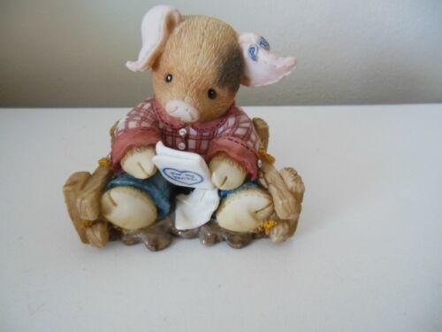 "This Little Piggy ""Pen Pals"" 1996 Enesco Design by Mary Rhyner-Nadiig"