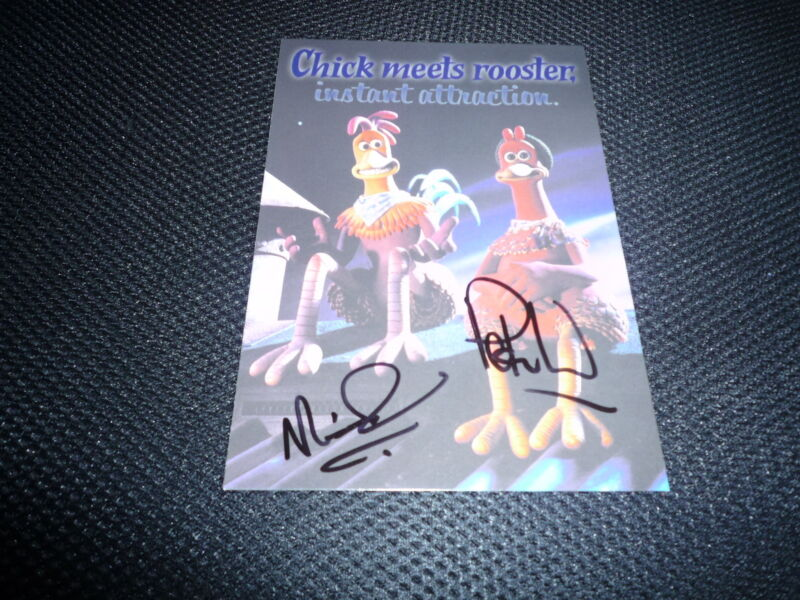 PETER LORD & NICK PARK  signed Autogramm 13x18 cm In Person CHICKEN RUN Oscar