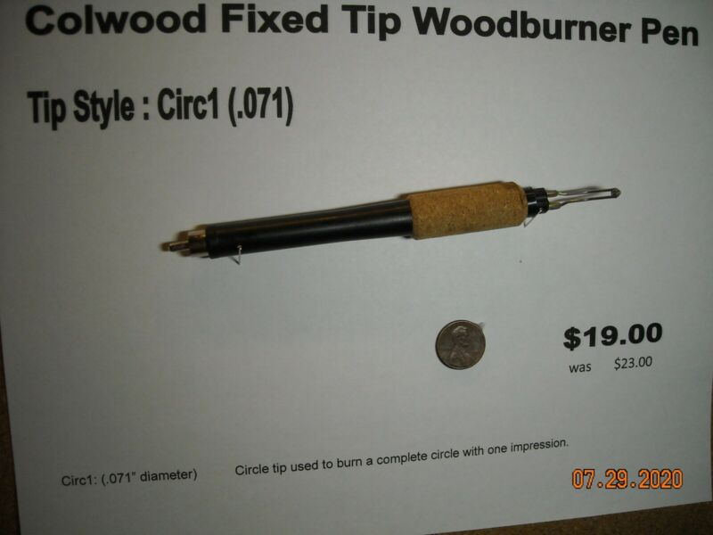 Colwood Fixed Tip Woodburning Pen Tip Style Circ1 (.071)