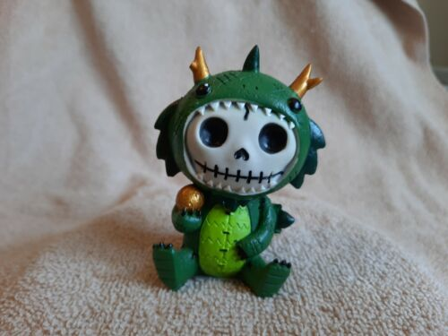 FURRYBONES Tatsu the Dragon Figurine Skull in Costume Collect New Free Shipping