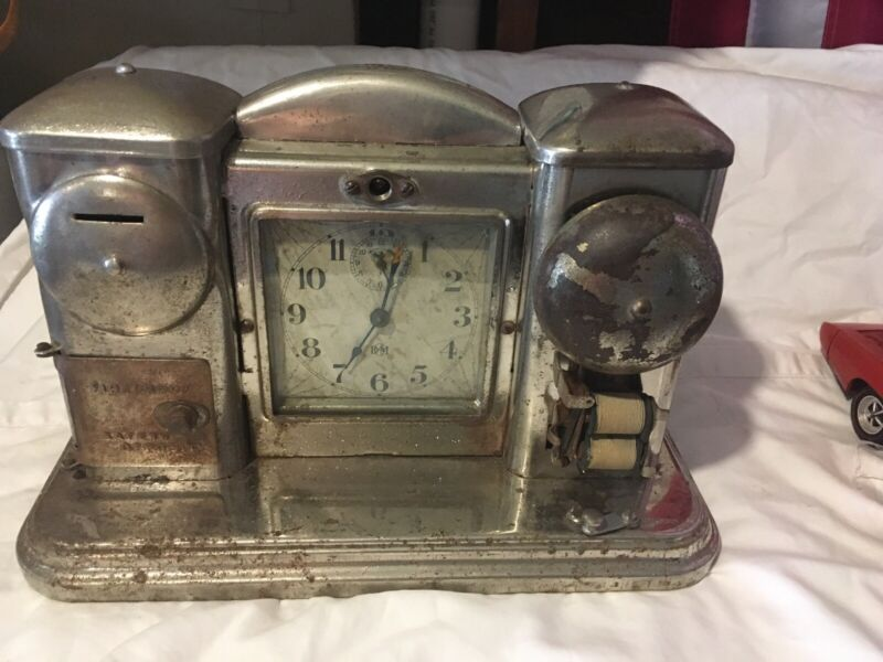 Antique 1910 Darche Fireproof Safety Deposit Hotel Alarm Safe