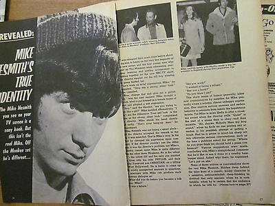 Mike Nesmith, The Monkees, Three Page Vintage Clipping